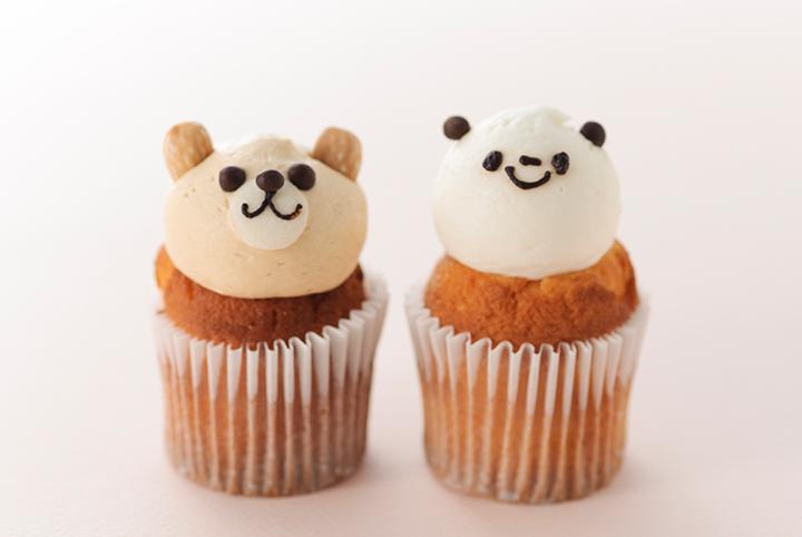 フェアリーケーキフェア くまキャラメル、バニラパンダ