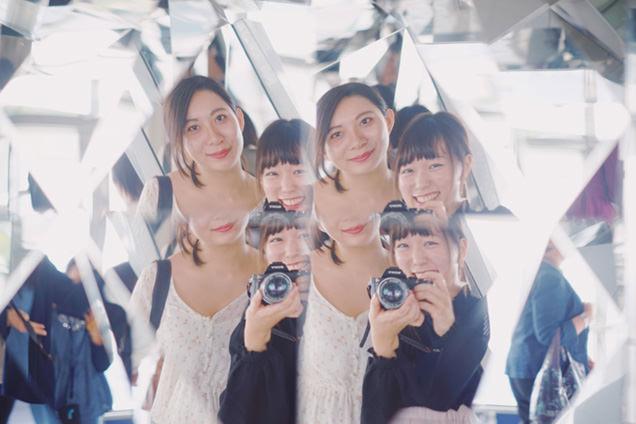 トップデッキ 友人と記念写真