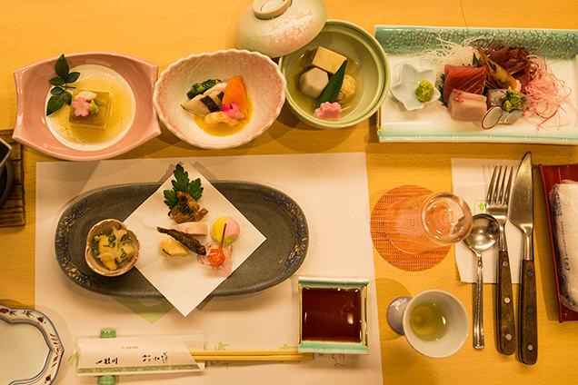 桂川 夕食