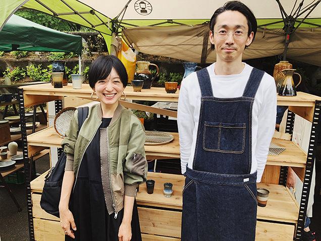 益子陶器市 佐々木康弘さんとライター