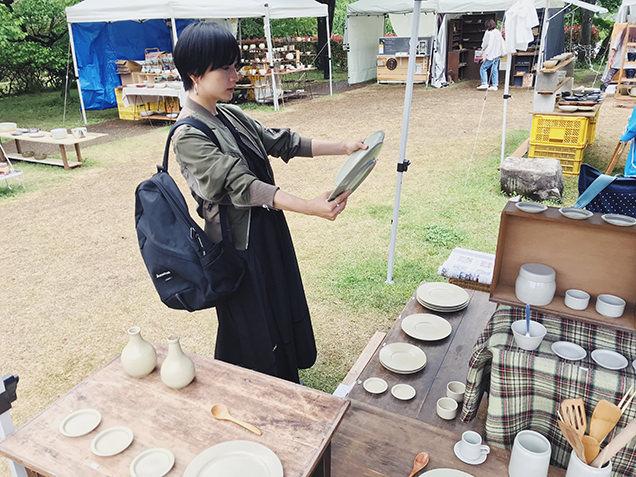 益子陶器市 こいずみみゆきさんの作品と高山都