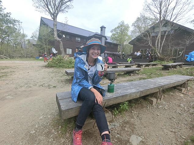 山の鼻休憩所 コーヒー