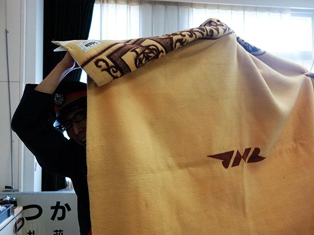 いかりん館 青函連絡船で使用された毛布
