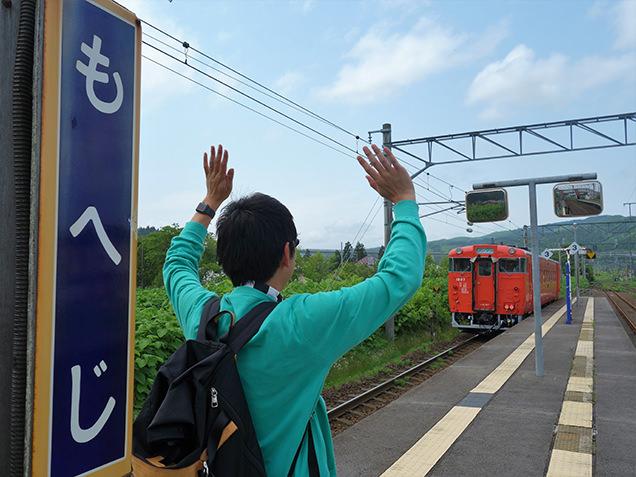 道南いさりび鉄道 茂辺地駅ホーム