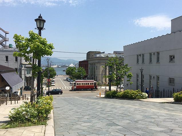 八幡坂 路面電車