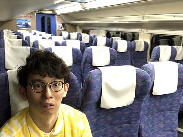 上越新幹線Maxたにがわ ガラガラの車内