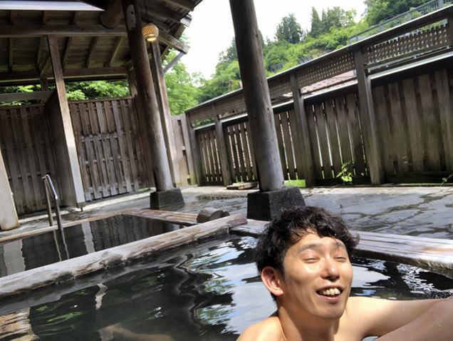 ひなの宿ちとせ 露天風呂「月見の湯」