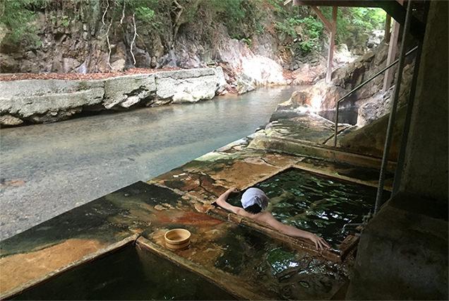明賀屋本館 露天風呂