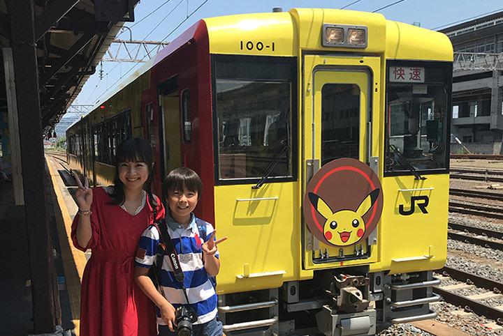 夏休みの親子旅はこれに決まり。ピカチュウづくしのポケモン列車でGo!
