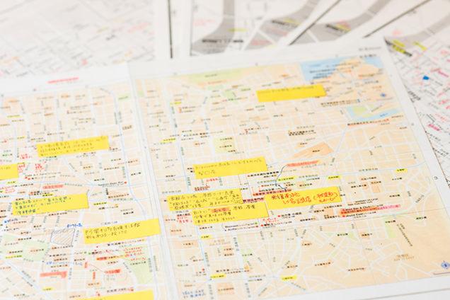 柳沢小実さんの手書きマップ