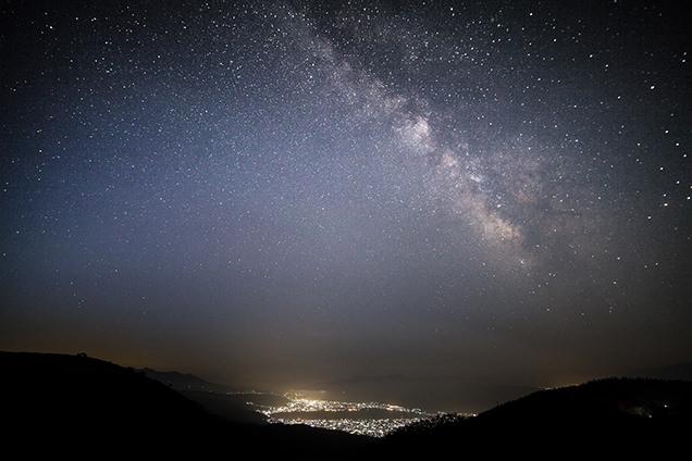 高ボッチ高原からの星空