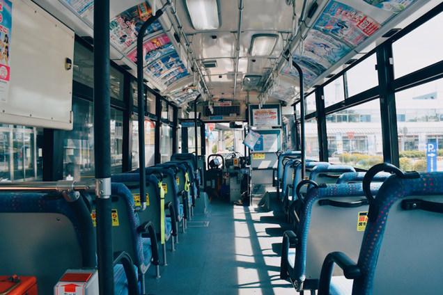 関越交通バスの車内