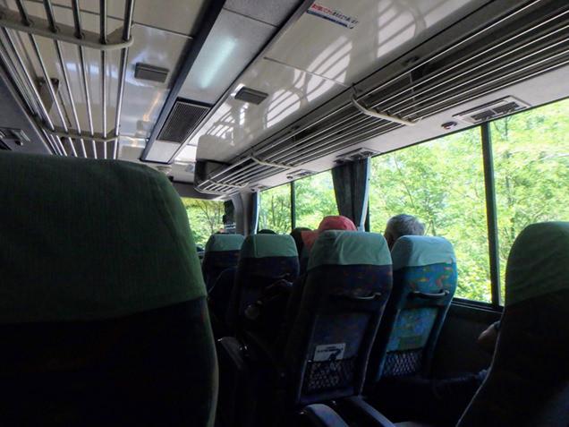 乗鞍高原へ向かうバス