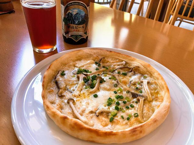 湯けむり館の食事「木こり風ピザ」