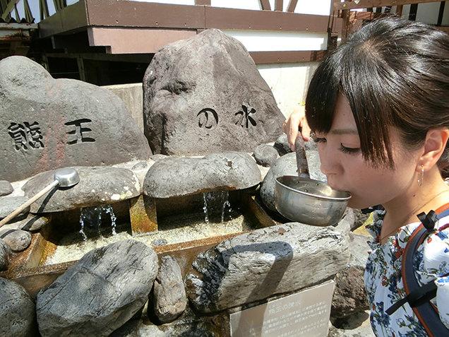熊王の水 湧水