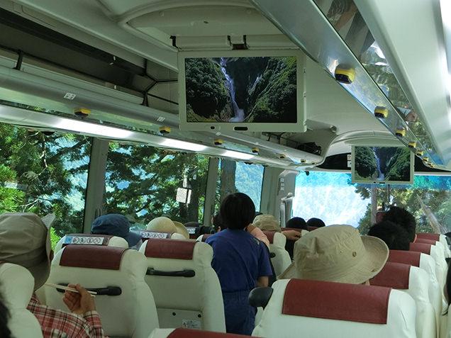 立山高原バス 車内