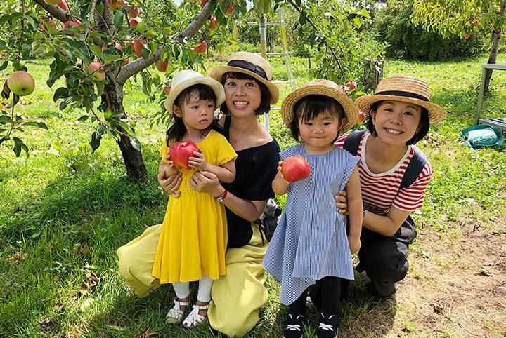 ママ友と行く子連れ旅のススメ。りんご狩り&プリンセス体験に大はしゃぎ♪
