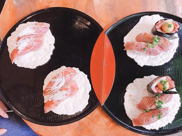 観光の前に、まずは飛騨牛最高ランク「5等級」の握り寿司で腹ごしらえ