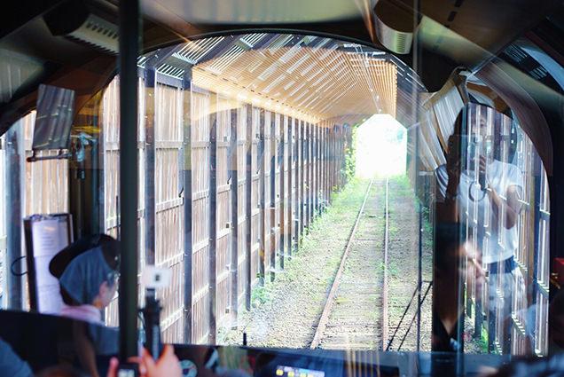 列車先頭からの景色