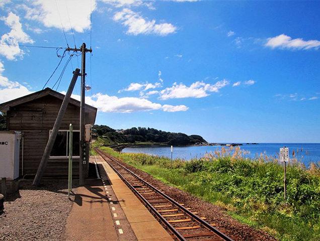 五能線と日本海