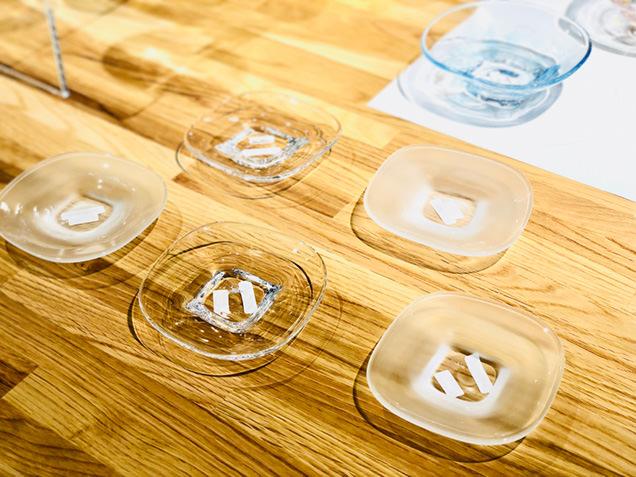 秋田市新屋ガラス工房で買えるお土産の品