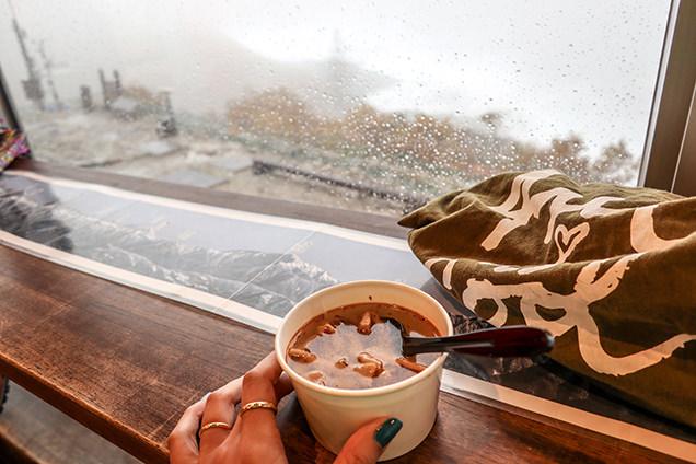 千畳敷カールのカフェの「きのこスープ」