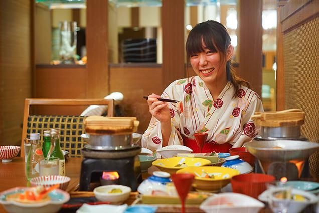 汐美荘 食事