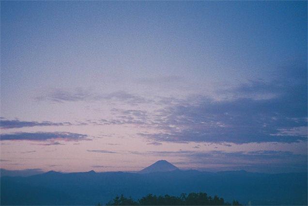 ほったらかし温泉から見える富士山