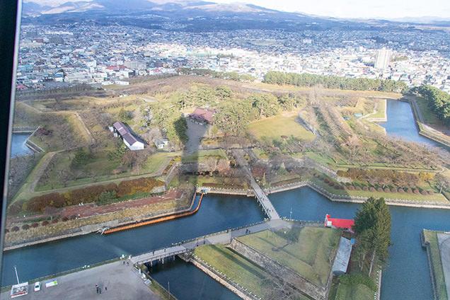 五稜郭タワーから眺めた五稜郭