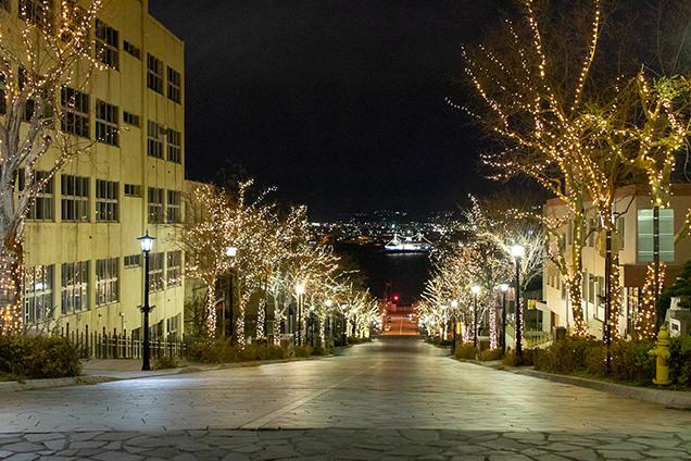八幡坂からの景色