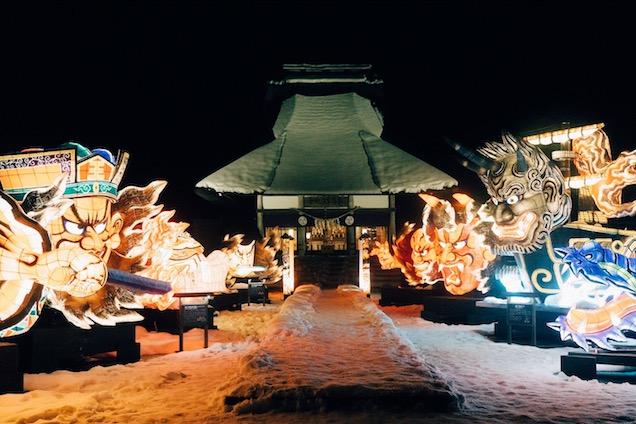 星野リゾート 青森屋 ねぶた雪灯り