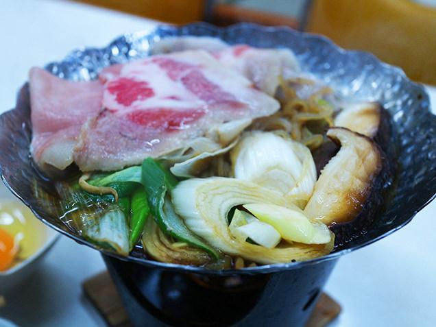 「下仁田のすき焼きは豚肉」ということで初めての豚すき焼き!