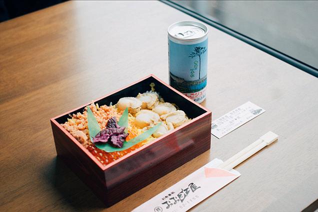 三陸鉄道 こたつ列車 食事 ほたて弁当