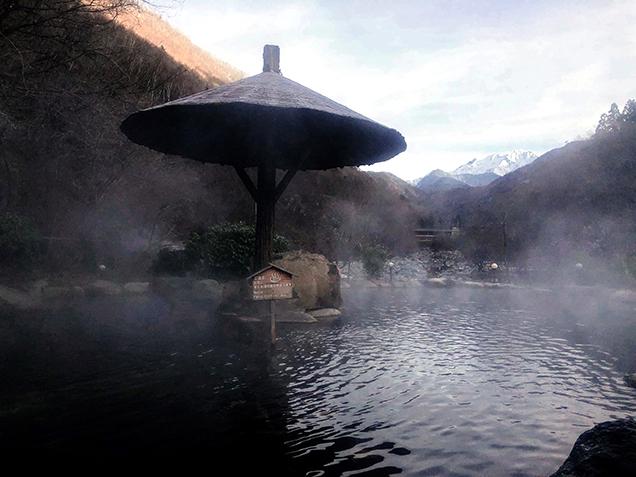穂高荘 山のホテル 混浴露天風呂