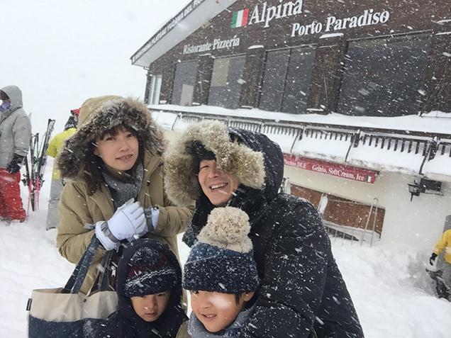 レストラン「Alpina(アルピナ)」前
