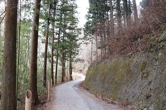 袋田の滝までの道