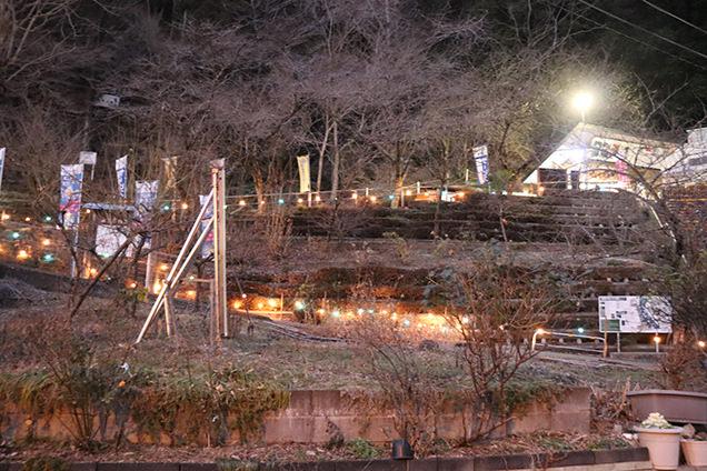 袋田の滝周辺 夜
