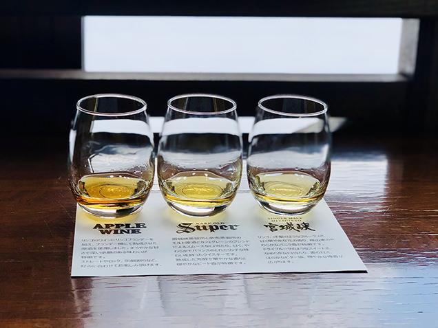 ウイスキーの飲み比べ