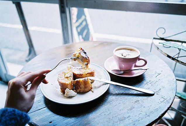 フレンチトーストとウィンナーコーヒー