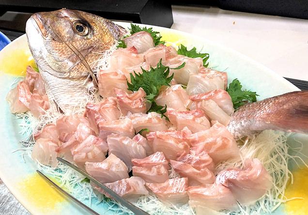 鯛のお刺身