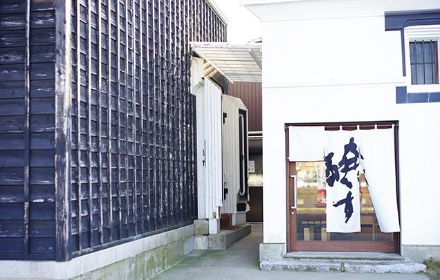峰村醸造の入り口