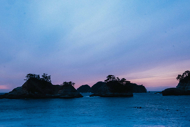 堂ヶ島からの夕日