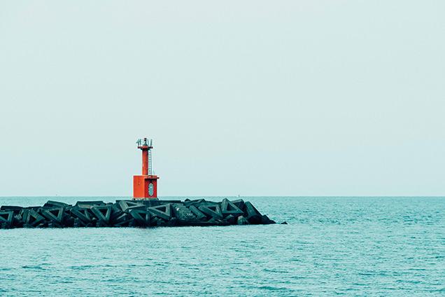 松崎海岸からの景色