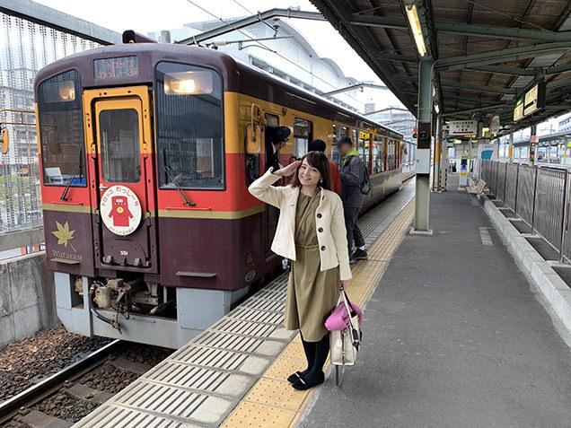 トロッコ列車と筆者