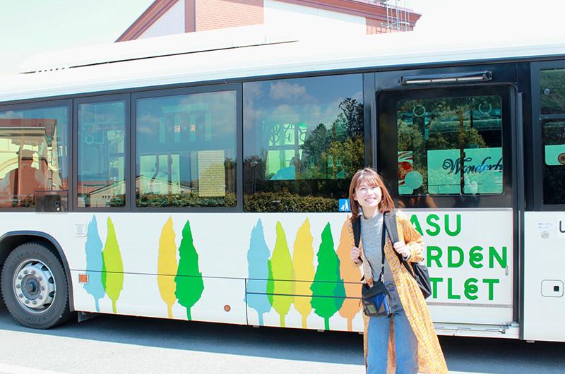 アウトレット行きのシャトルバス