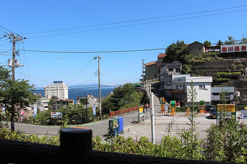 伊豆熱川駅からの景色