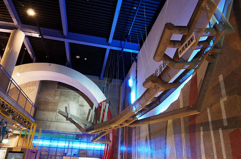 青函トンネルの模型