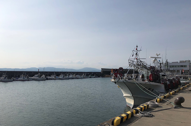函館どつく前周辺