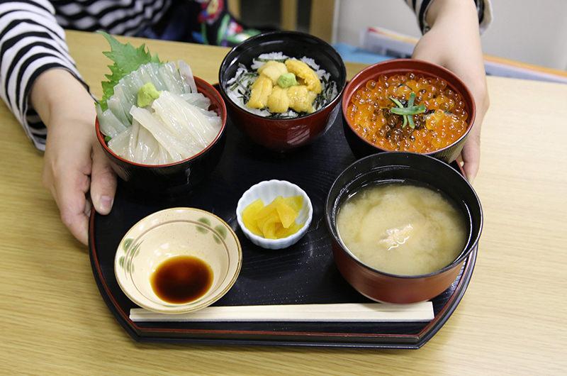 海鮮ミニ三色丼