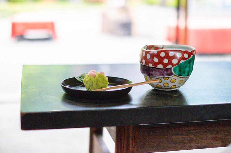季節の和菓子とお抹茶